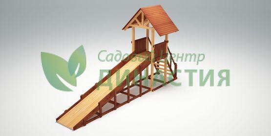 Зимняя деревянная игровая горка Савушка Зима 5