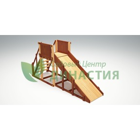 Зимняя деревянная игровая горка Савушка Зима 2